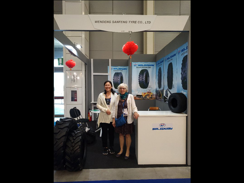 2017 Italian exhibition wendeng sanfeng tire co., LTD. Website will soon be launched please look forward to!